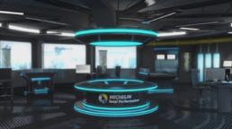 Interface 3D de quiz interactif Michelin total performance