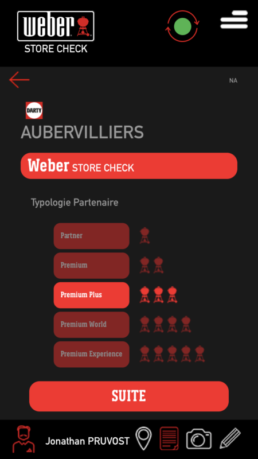 Application - Weber – Store Check
