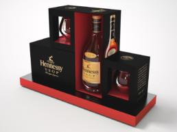 Modélisation de présentoir Hennessy